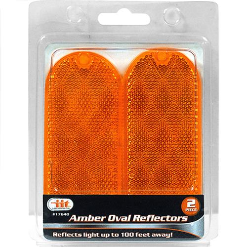 Wholesale Amber Oval Reflectors