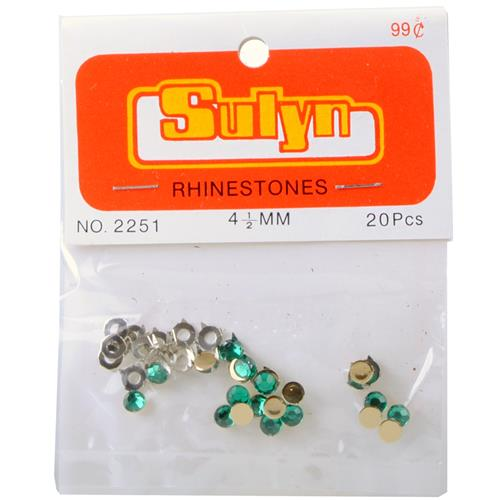Wholesale 20 Piece Rhinestones 4.5 MM