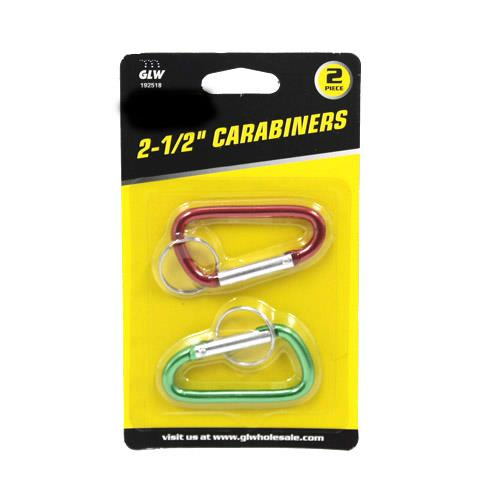 Wholesale 2pc CARABINER KEYCHAIN -2-1/2""