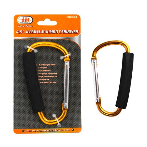 "Wholesale 4.5"" ALUMINUM CARABINER WITH CUSHION GRIP"