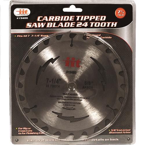 """Wholesale 7-1/4"""" Carbide Tipped 24 Tooth Saw Blade"""