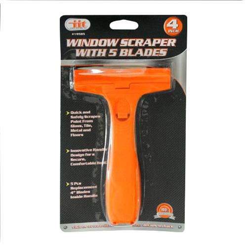 "Wholesale 4"""" Window Scraper With 5 Blades"