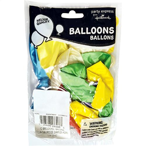 "Wholesale 12 Pack 10"" Helium Balloons - Pearl"
