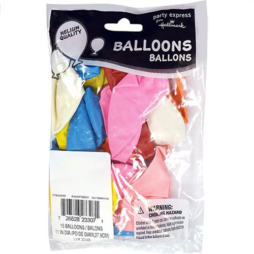 "Wholesale 11""  Helium Balloons Assorted 15 Packs"