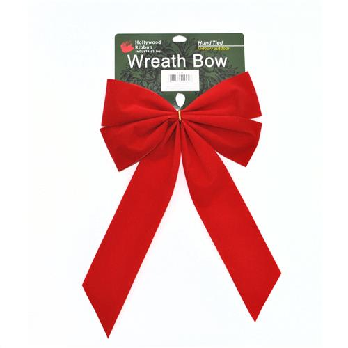 "Wholesale Christmas Decor Giant Red Velvet Bow 2.25"""" x 8"""""