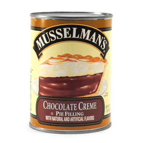 Wholesale Best By Date:  8/5/18 -Musselman's Chocolate Cream Pie Filling