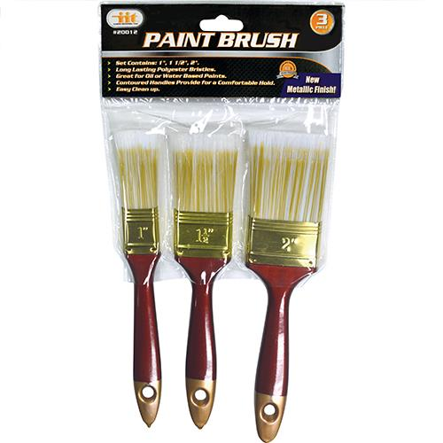"Wholesale 3pc Paint Brush Set 1"" - 1-1/2"" & 2"""
