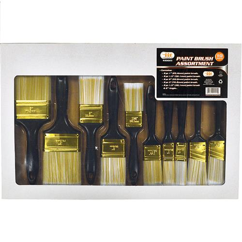 Wholesale 10pc PAINT BRUSH ASSORTMENT