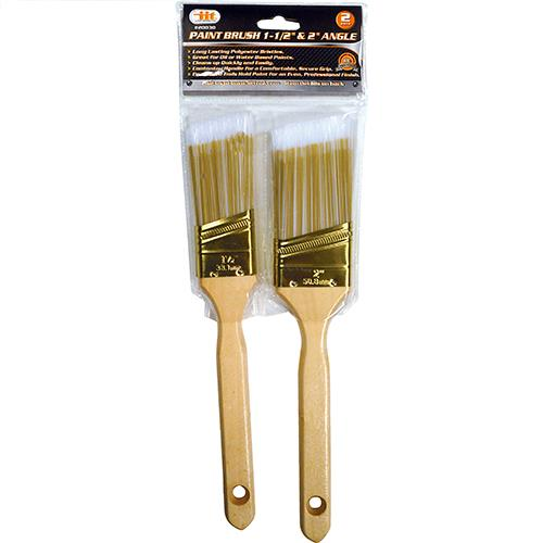 "Wholesale 2PC Angle Paint Brush Set 1-1/2"" & 2"""