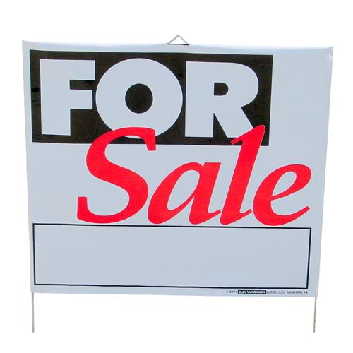 "Wholesale Plastic Lawn Sign 14""x 16""  ""For Sale"""