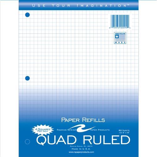 """Wholesale FILLER PAPER 8""""x10.5"""" 4x4 QUAD"""
