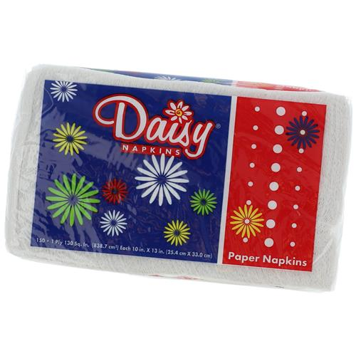Wholesale Daisy Table Napkins Lunch 1 ply 10x13""