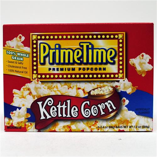 Wholesale Prime Time Kettle Corn Microwave Popcorn 3pk