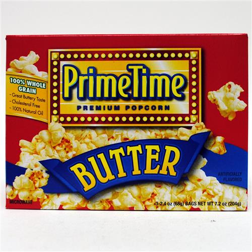 Wholesale Prime Time Butter Microwave Popcorn 3pk