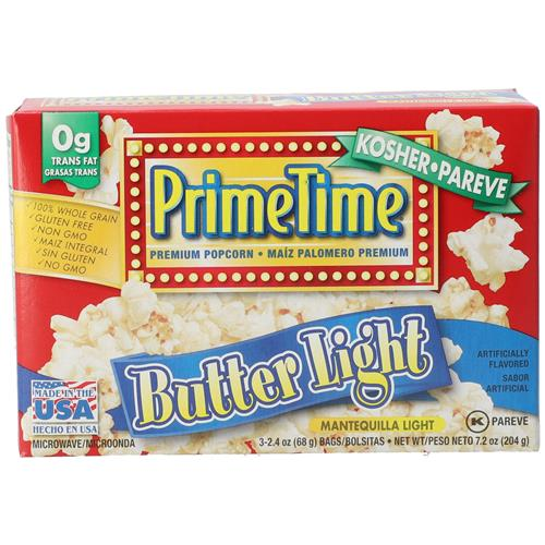 Wholesale Prime Time Butter Light Microwave Popcorn 3pk