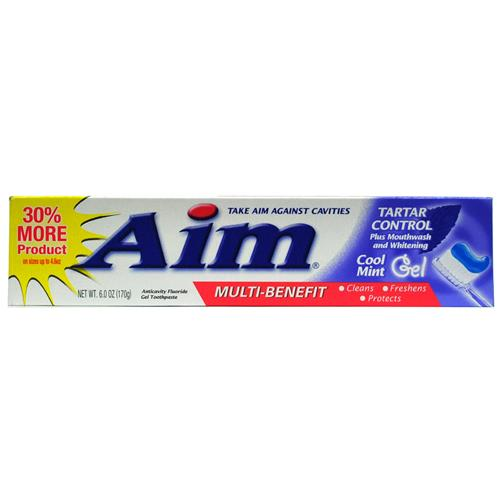 Wholesale Aim Multi Benefit Tartar Control Cool Mint Gell Pl