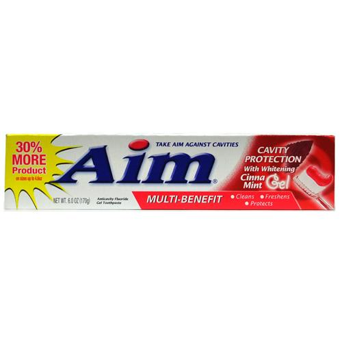 Wholesale Aim Cavity Protection Cinna Mint Gel Toothpaste w/whitening