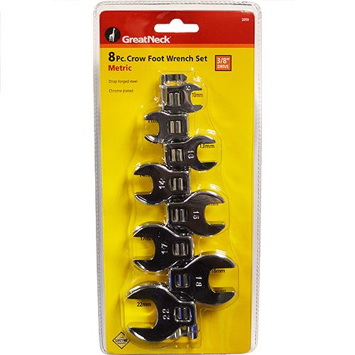 Wholesale 8PC 3/8'' CROWFOOT WRENCH METRIC 10-22MM
