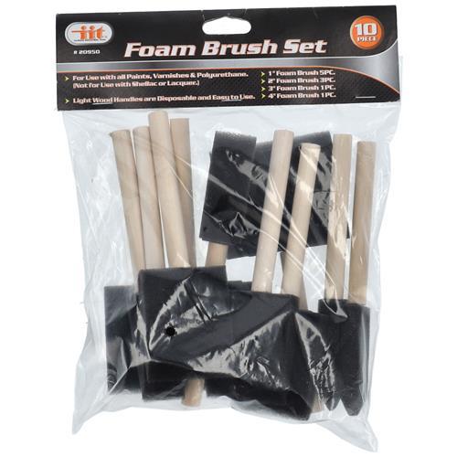 Wholesale 10pc Foam Brush Set