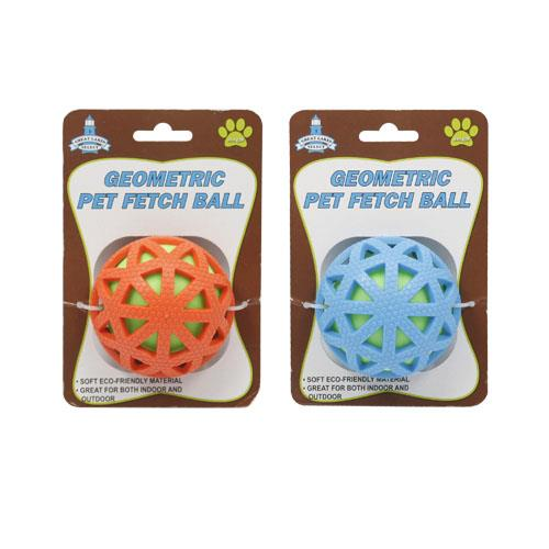Wholesale SQUEAKY PET BALL GEOMETRIC DES