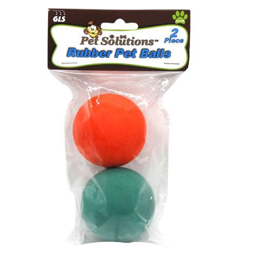 Wholesale 2pk RUBBER PET BALL SET