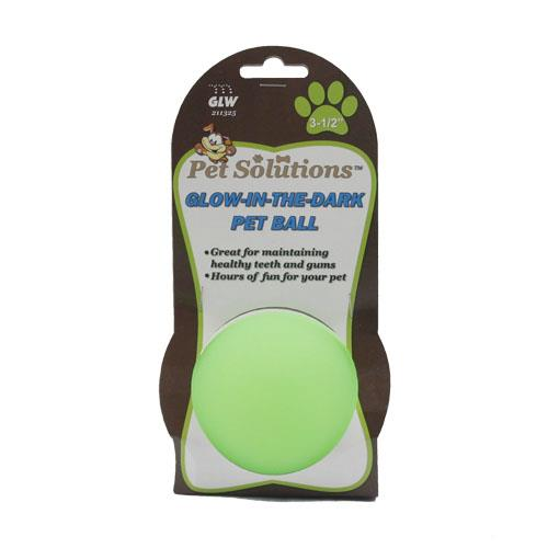 "Wholesale 3.5"" GLOW-IN-THE-DARK PET BALL"