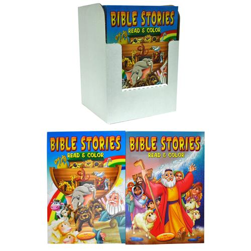 Wholesale Bible Stories Read & Color Book 2 Titles 96pg PDQ