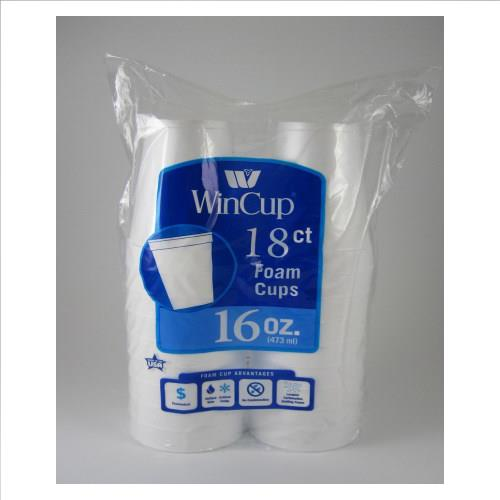 Wholesale White Foam Cups 16oz