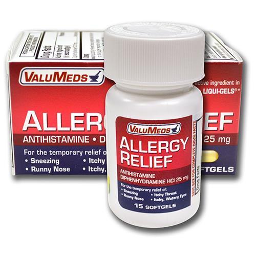 Wholesale VM ALLERGY 25MG LIQ GEL (BENADRYL)