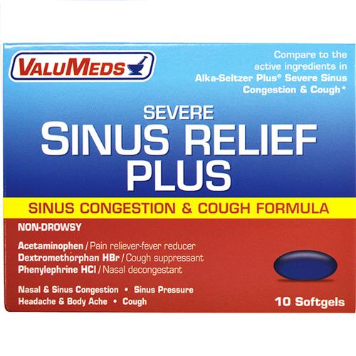Wholesale Valu Med Liquid Gels - Cough-Cold-Sinus 10ct