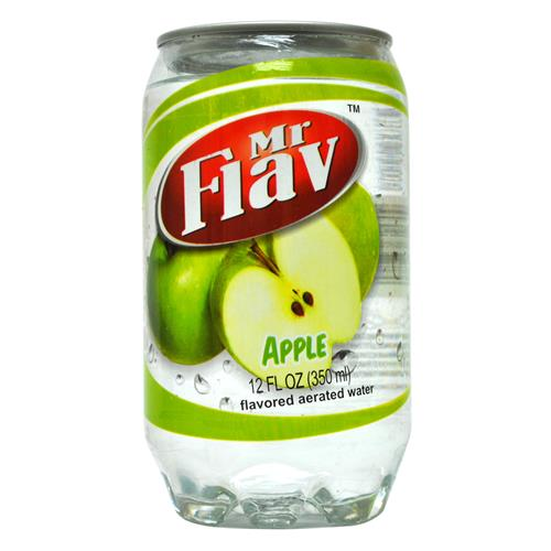 Wholesale Mr. Flav Fruity Apple Aerated Water-Clear Plastic Can