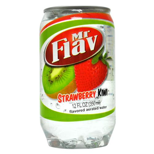 Wholesale Mr Flav Fruit Flavor Water Strawberry-Kiwi Clear Plastic Can