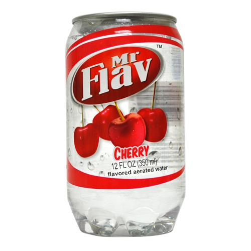 Wholesale Mr Flav Cherry Flavored Aerated Water - plastic can