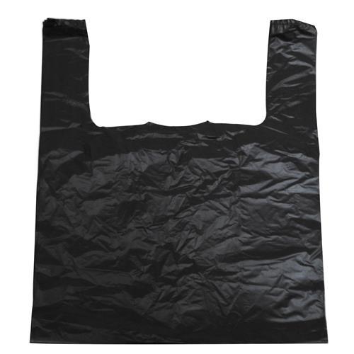 Wholesale Black Jumbo T-Shirt Bags 17x7x30 inches 15 mic