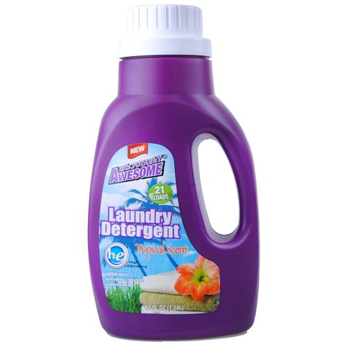 Wholesale Awesome Ultra Liquid Laundry Detergent HE Tropical Scent 21 Loads