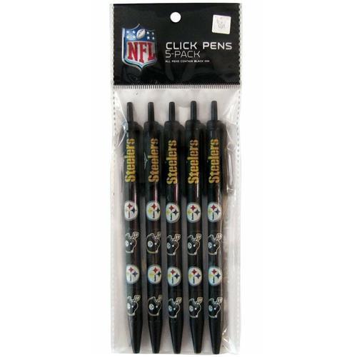 Wholesale NFL PITTSBURG STEELERS 5PK CLICK PENS