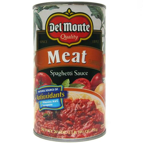Wholesale Del Monte Pasta Sauce  - Meat Flavored