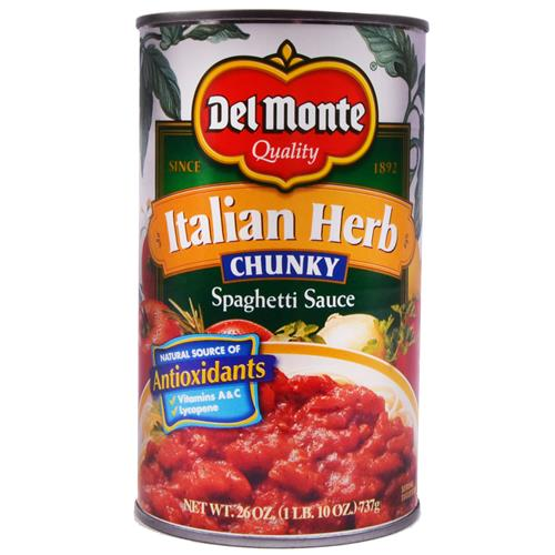 Wholesale Del Monte Chunky Italian Herb Pasta Sauce
