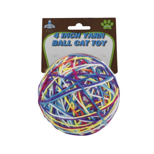 "Wholesale 4"" YARN BALL CAT TOY"