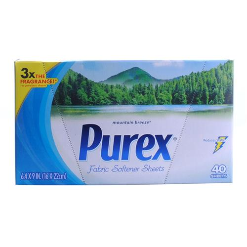 Wholesale Purex HE Dryer Sheets - Mountain Freeze