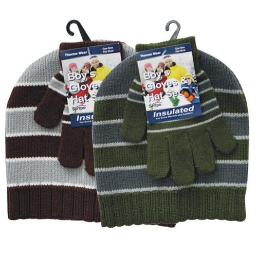 Wholesale Winter Hat & Mitten Set - assorted prints