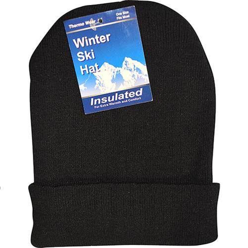 Wholesale Hat Beanie Acrylic Black Only