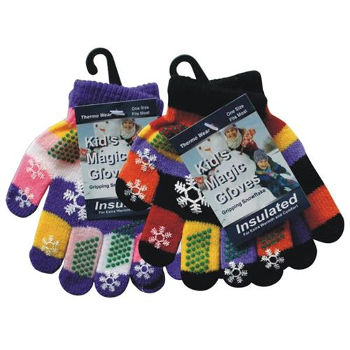 Wholesale Magic Glove Assorted Colors Snowflake
