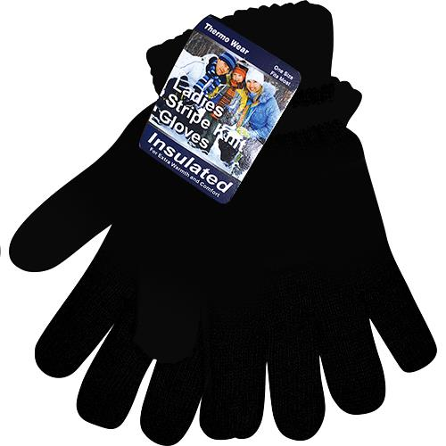 Wholesale Winter Knit Gloves Black