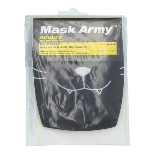 Wholesale 3PLY CLOTH FACE MASK BLACK CAT ADULT