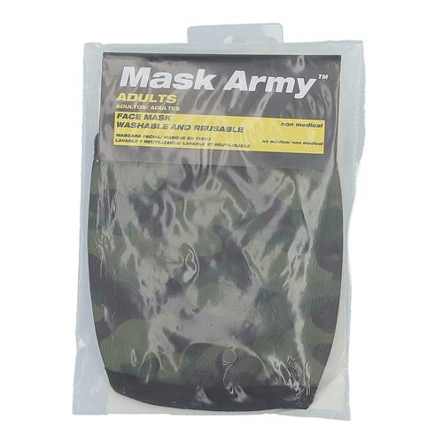Wholesale 3PLY CLOTH FACE MASK GREEN CAMO ADULT