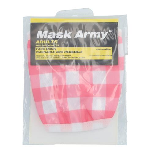 Wholesale 3PLY CLOTH FACE MASK PINK PLAID ADULT