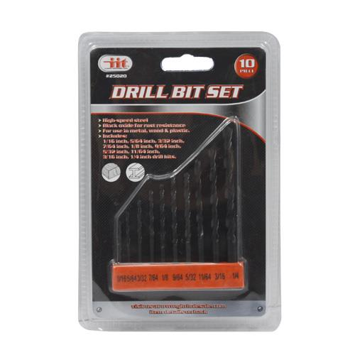 Wholesale 10pc Drill Bit Set
