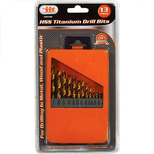 Wholesale 13PC HSS Titanium Drill Bits