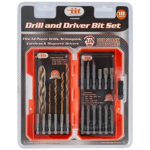 Wholesale 18pc DRILL & DRIVER SET
